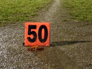 football - 50 yard line